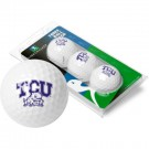 Texas Christian Horned Frogs 3 Golf Ball Sleeve (Set of 3)
