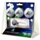 UTEP Texas (El Paso) Miners 3 Golf Ball Gift Pack with Cap Tool