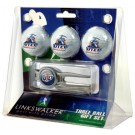 UTEP Texas (El Paso) Miners 3 Ball Golf Gift Pack with Kool Tool