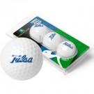 Tulsa Golden Hurricane Top Flite XL Golf Balls 3 Ball Sleeve (Set of 3)