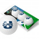 Utah State Aggies Top Flite XL Golf Balls 3 Ball Sleeve (Set of 3)