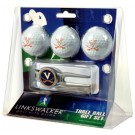 Virginia Cavaliers 3 Ball Golf Gift Pack with Kool Tool