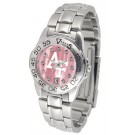 Air Force Academy Falcons Ladies Sport Watch with Steel Band and Mother of Pearl Dial