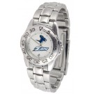 Akron Zips Gameday Sport Ladies' Watch with a Metal Band