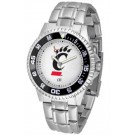 Cincinnati Bearcats Competitor Watch with a Metal Band