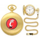 Cincinnati Bearcats Gold Pocket Watch