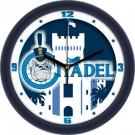"""Citadel Bulldogs 12"""" Dimension Wall Clock"""