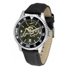 Colorado Buffaloes Competitor AnoChrome Men's Watch with Nylon/Leather Band and Colored Bezel