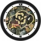 """Colorado Buffaloes 12"""" Camo Wall Clock"""