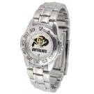 Colorado Buffaloes Gameday Sport Ladies' Watch with a Metal Band