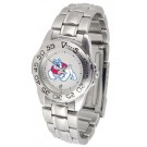 Fresno State Bulldogs Gameday Sport Ladies' Watch with a Metal Band