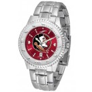 Florida State Seminoles Competitor AnoChrome Men's Watch with Steel Band