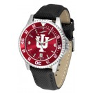 Indiana Hoosiers Competitor AnoChrome Men's Watch with Nylon/Leather Band and Colored Bezel