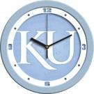 "Kansas Jayhawks 12"" Blue Wall Clock"