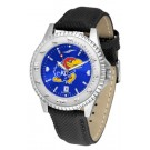 Kansas Jayhawks Competitor AnoChrome Men's Watch with Nylon/Leather Band