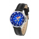 Kansas Jayhawks Competitor Ladies AnoChrome Watch with Leather Band and Colored Bezel