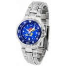 Kansas Jayhawks Competitor AnoChrome Ladies Watch with Steel Band and Colored Bezel