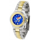 Kansas Jayhawks Competitor AnoChrome Ladies Watch with Two-Tone Band