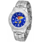 Kansas Jayhawks Competitor AnoChrome Men's Watch with Steel Band