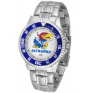 Kansas Jayhawks Competitor Watch with a Metal Band
