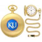 Kansas Jayhawks Gold Pocket Watch