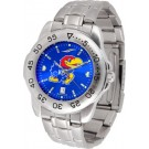 Kansas Jayhawks Sport Steel Band Ano-Chrome Men's Watch