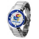 Kansas Jayhawks Titan Steel Watch