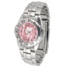 Louisiana State (LSU) Tigers Ladies Sport Watch with Steel Band and Mother of Pearl Dial