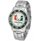 Miami Hurricanes Competitor Watch with a Metal Band