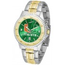 Miami Hurricanes Competitor AnoChrome Two Tone Watch
