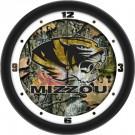 """Missouri Tigers 12"""" Camo Wall Clock"""