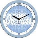 "Mississippi (Ole Miss) Rebels 12"" Blue Wall Clock"