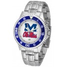 Mississippi (Ole Miss) Rebels Competitor Watch with a Metal Band