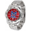 Mississippi (Ole Miss) Rebels Sport Steel Band Ano-Chrome Men's Watch