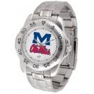 Mississippi (Ole Miss) Rebels Sport Steel Band Men's Watch