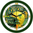 "North Dakota State Bison 12"" Helmet Wall Clock"