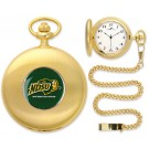 North Dakota State Bison Gold Pocket Watch