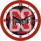 "Nebraska Cornhuskers 12"" Dimension Wall Clock"