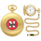 Nebraska Cornhuskers Gold Pocket Watch