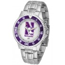 Northwestern Wildcats Competitor Watch with a Metal Band