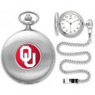 Oklahoma Sooners Silver Pocket Watch