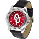 Oklahoma Sooners Sport AnoChrome Men's Watch with Leather Band