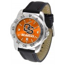 Oregon State Beavers Sport AnoChrome Men's Watch with Leather Band