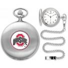 Ohio State Buckeyes Silver Pocket Watch