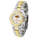 Oklahoma State Cowboys Competitor Ladies Watch with Two-Tone Band