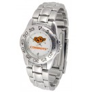 Oklahoma State Cowboys Gameday Sport Ladies' Watch with a Metal Band