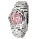 Oklahoma State Cowboys Ladies Sport Watch with Steel Band and Mother of Pearl Dial