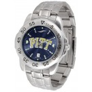 Pittsburgh Panthers Sport Steel Band Ano-Chrome Men's Watch