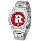 Rutgers Scarlet Knights Competitor AnoChrome Men's Watch with Steel Band