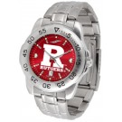 Rutgers Scarlet Knights Sport Steel Band Ano-Chrome Men's Watch